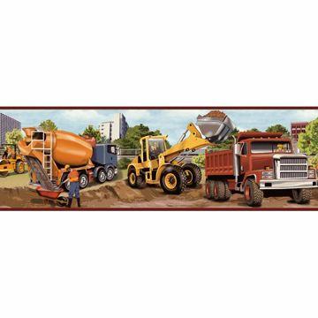 Elbow Grease Orange Heavy Machinery Portrait Border