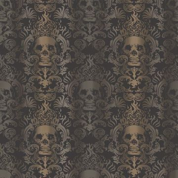 Luther Sand Skull Modern Damask