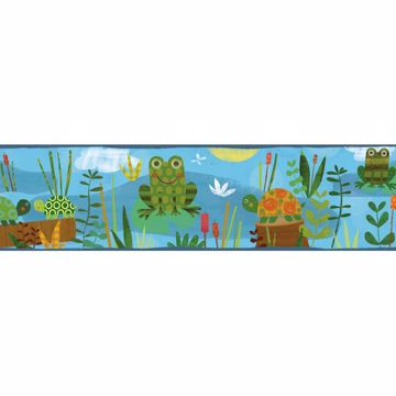 Kermis Blue Frog Marsh Toss Border