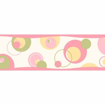 Wobbler Pink Geometric Toss Border