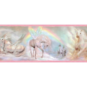 Farewell Pink Unicorn Dreams Portrait Border