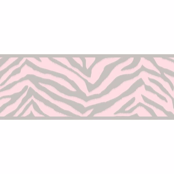 Mia Pink Faux Zebra Stripes Border