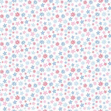 Delilah Blue Mod Flower Toss