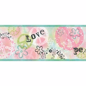 Janis Blue Peace Love Toss Border