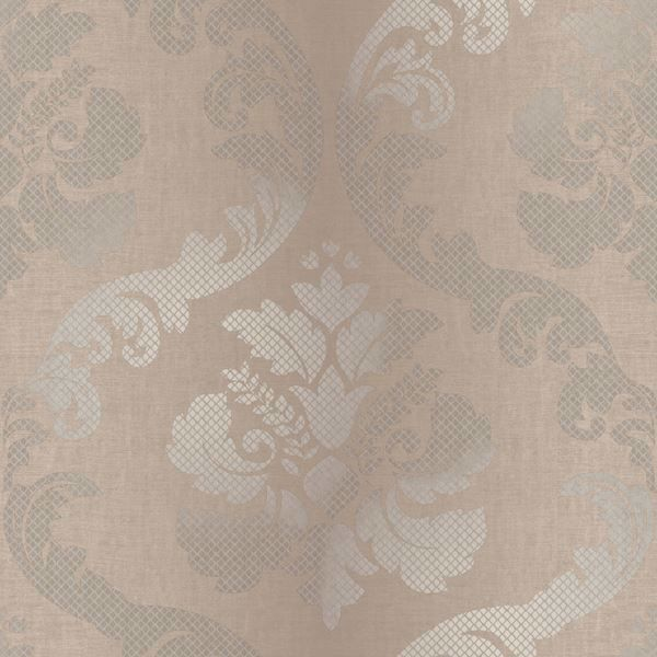 Delilah Brown Tulip Damask