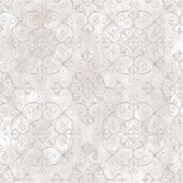 Aubrey Alabaster Crystal Medallion Texture