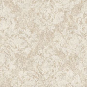 Leia Brown Lace Damask
