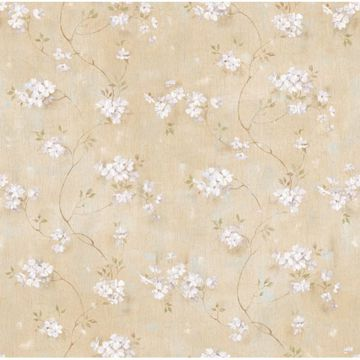 Braham Sand Country Floral Scroll