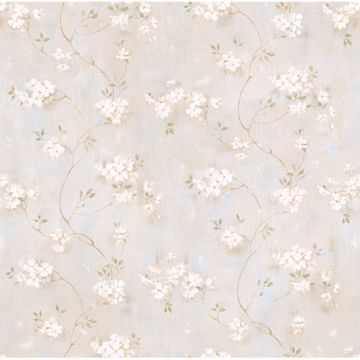 Braham Grey Country Floral Scroll