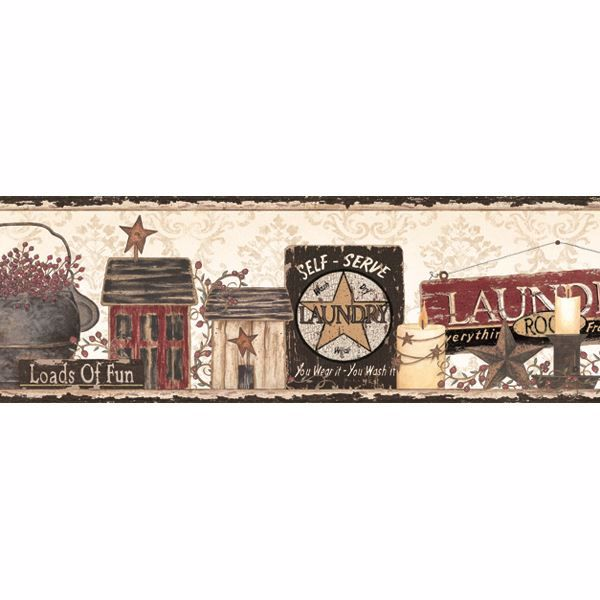 Gidget White Country Fun Portrait Border