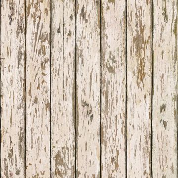 Genley White Faux Weathered Wood