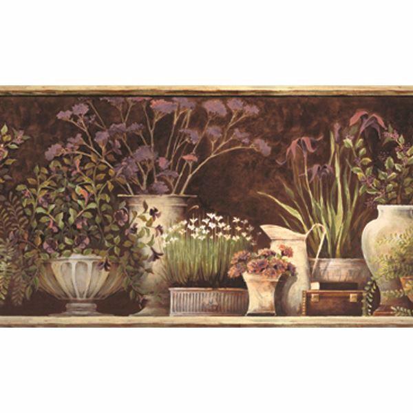 Frema Brown Floral Still Life Border