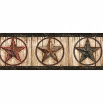 Theo Black Weathered Barn Star Border