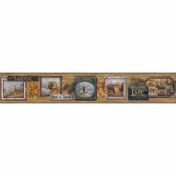 Big Five Maple Wood Wall Vignette Border