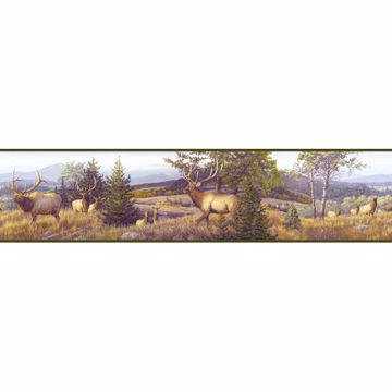 Breeze Blue Elk Mountain Portrait Border