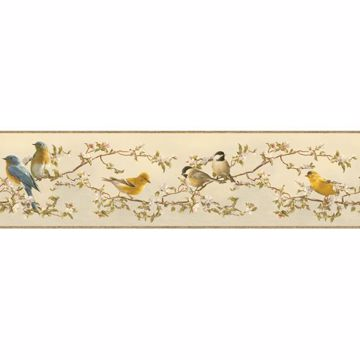 Louise Beige Songbird Portrait Border