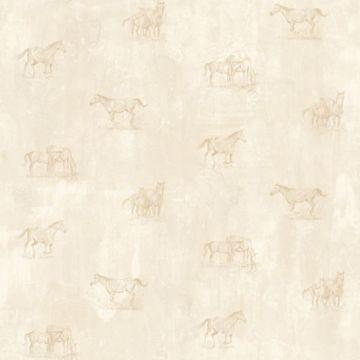 Doodles Beige Horse Sketch Toss