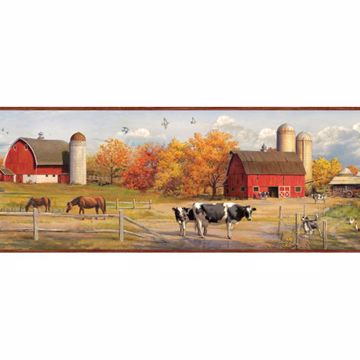 Winslow Red American Farmer Portrait Border