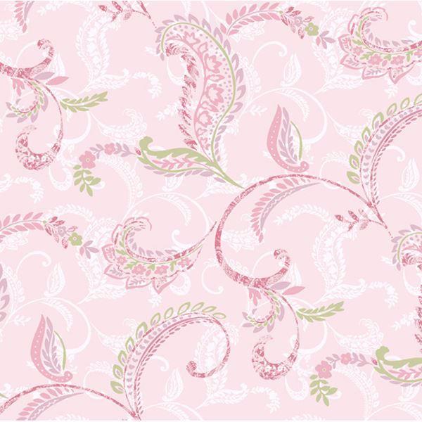 Riley Pink Paisley Scroll
