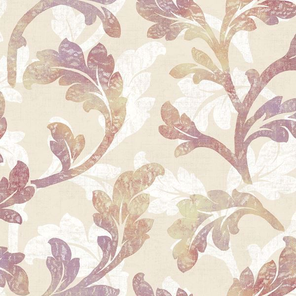 Natalia Blackberry Floral Scroll