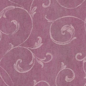 Gibby Pink Leafy Scroll