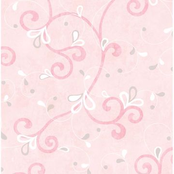Jada Pink Girly Floral Scroll