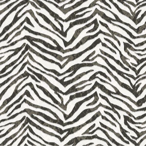 Mia Black Faux Zebra Stripes