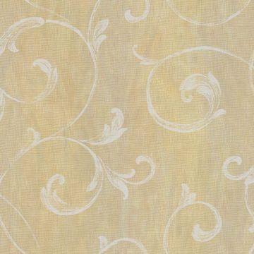 Gibby Yellow Leafy Scroll