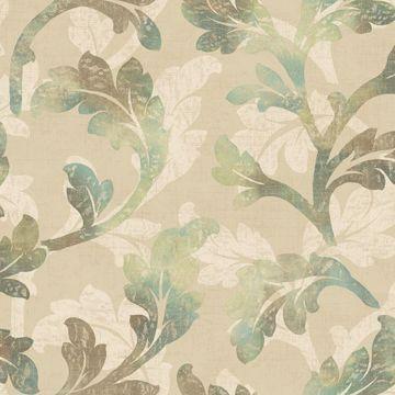 Natalia Moss Floral Scroll