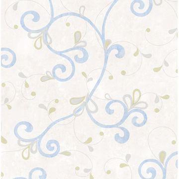 Jada Light Blue Girly Floral Scroll