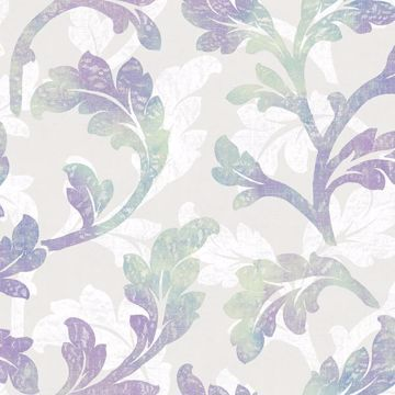 Natalia Iris Floral Scroll
