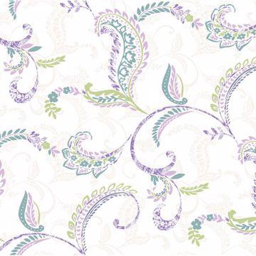 Riley Lilac Paisley Scroll