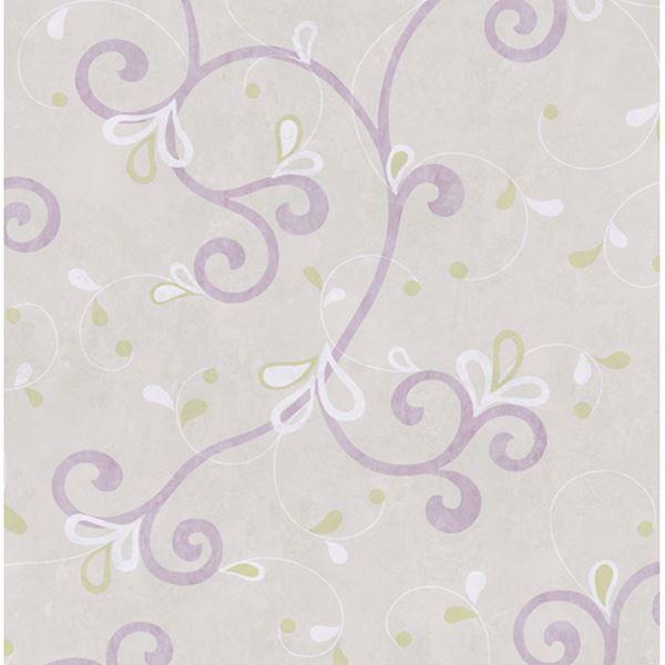 Jada Lilac Girly Floral Scroll