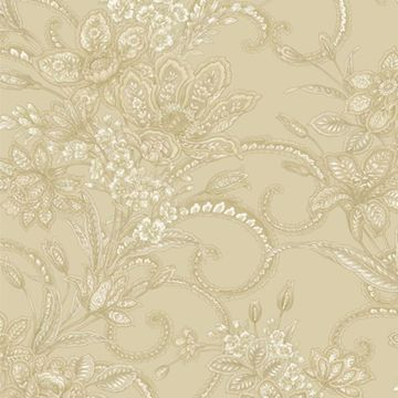 Wren Olive Jacobean Floral Mosaic