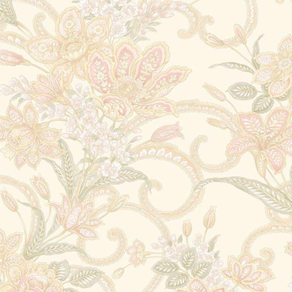 Wren Pink Jacobean Floral Mosaic