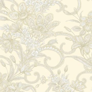 Wren Cream Jacobean Floral Mosaic