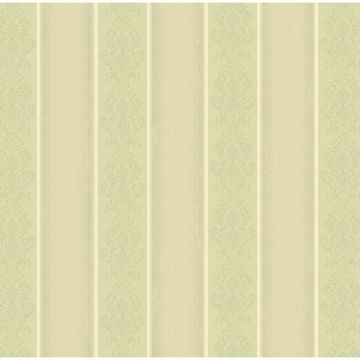 Arabelle Green Damask Stripe