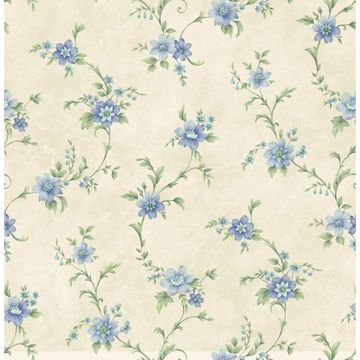 Elizabeth Blue Floral Trail