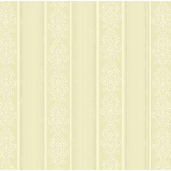 Arabelle Light Green Damask Stripe