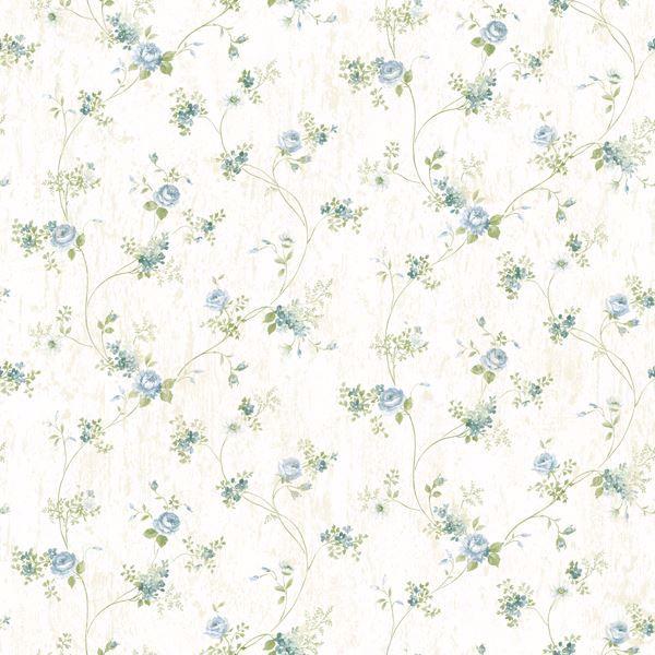Virginia Blue Floral Vine