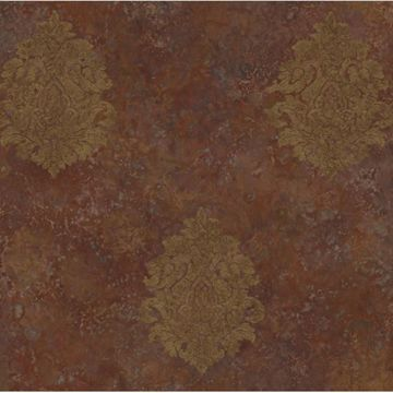 Orange Baroque Damask