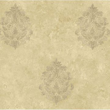 Beige Baroque Damask