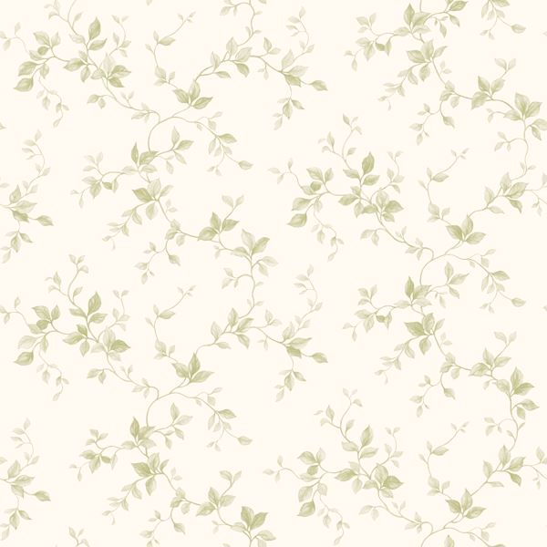 Neutral Leaf Ivy Toile