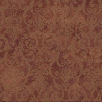 Brown Tearose Damask