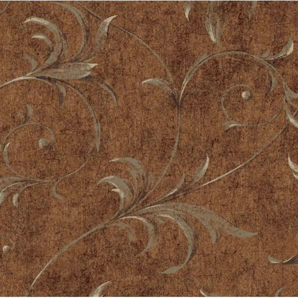 Brown Ogee Acanthus Scroll