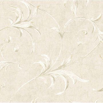 Grey Ogee Acanthus Scroll