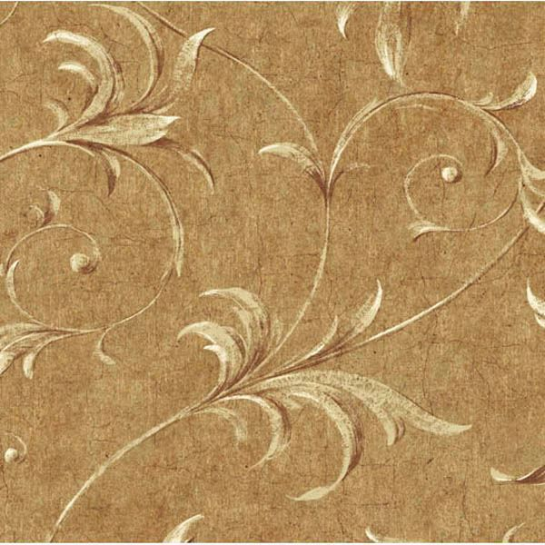 Yellow Ogee Acanthus Scroll