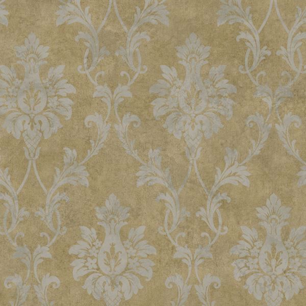 Brown Pineapple Damask