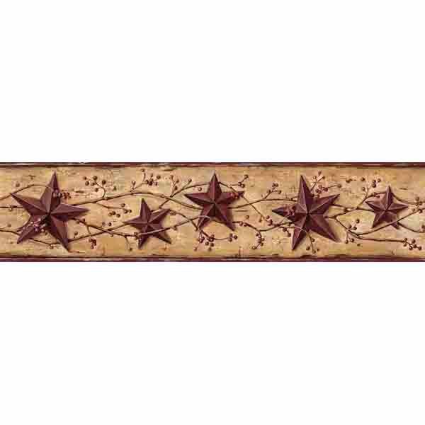 Grace Bronze Tin Star Vine Border