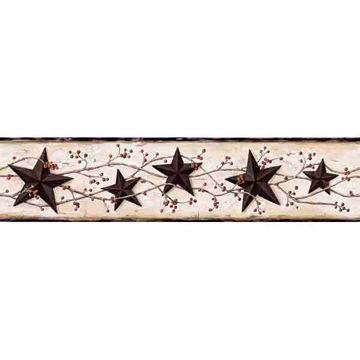 Grace White Tin Star Vine Border